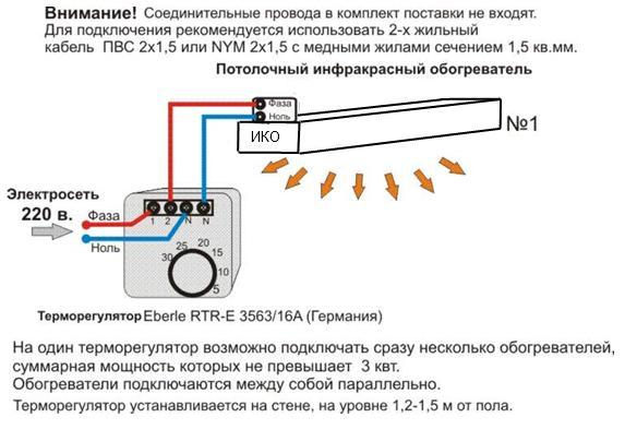 Терморегулятор Eberle RTR-E